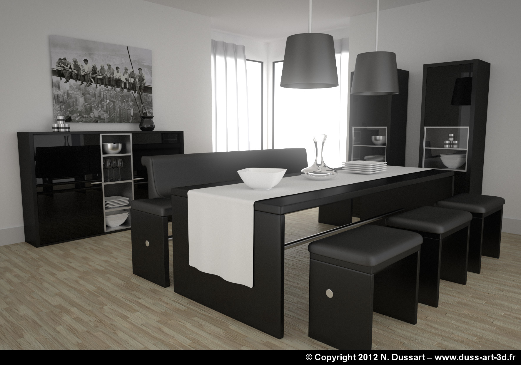 salle a manger moderne italienne solutions pour la. Black Bedroom Furniture Sets. Home Design Ideas